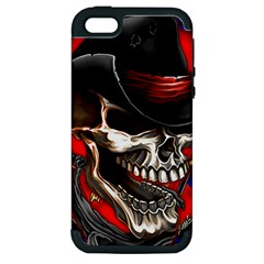 Confederate Flag Usa America United States Csa Civil War Rebel Dixie Military Poster Skull Apple iPhone 5 Hardshell Case (PC+Silicone)