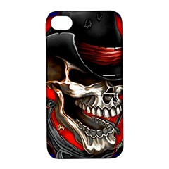 Confederate Flag Usa America United States Csa Civil War Rebel Dixie Military Poster Skull Apple iPhone 4/4S Hardshell Case with Stand
