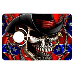 Confederate Flag Usa America United States Csa Civil War Rebel Dixie Military Poster Skull Kindle Fire HDX Flip 360 Case