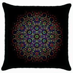 The Flower Of Life Throw Pillow Case (Black)