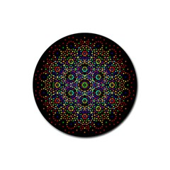 The Flower Of Life Rubber Coaster (Round)