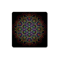 The Flower Of Life Square Magnet