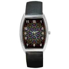 The Flower Of Life Barrel Style Metal Watch