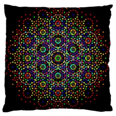 The Flower Of Life Large Cushion Case (One Side)