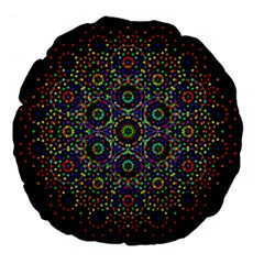 The Flower Of Life Large 18  Premium Flano Round Cushions