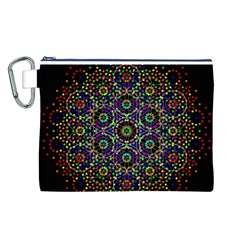 The Flower Of Life Canvas Cosmetic Bag (L)