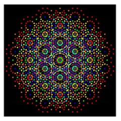 The Flower Of Life Large Satin Scarf (Square)