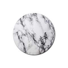 Marble Pattern Rubber Round Coaster (4 pack)
