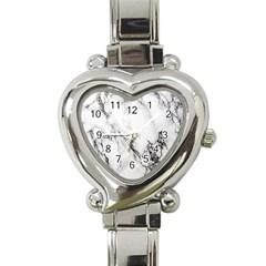 Marble Pattern Heart Italian Charm Watch