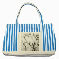 Marble Pattern Striped Blue Tote Bag
