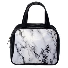 Marble Pattern Classic Handbags (One Side)