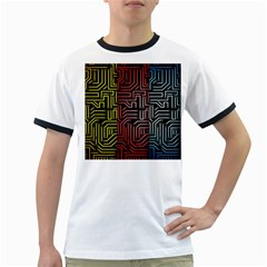 Circuit Board Seamless Patterns Set Ringer T-Shirts
