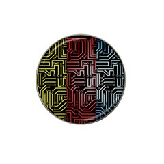 Circuit Board Seamless Patterns Set Hat Clip Ball Marker (10 pack)