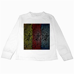 Circuit Board Seamless Patterns Set Kids Long Sleeve T-Shirts
