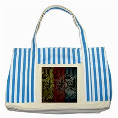 Circuit Board Seamless Patterns Set Striped Blue Tote Bag