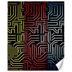 Circuit Board Seamless Patterns Set Canvas 16  x 20