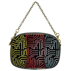 Circuit Board Seamless Patterns Set Chain Purses (One Side)