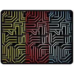 Circuit Board Seamless Patterns Set Fleece Blanket (Large)
