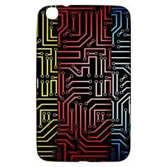 Circuit Board Seamless Patterns Set Samsung Galaxy Tab 3 (8 ) T3100 Hardshell Case