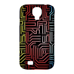 Circuit Board Seamless Patterns Set Samsung Galaxy S4 Classic Hardshell Case (PC+Silicone)