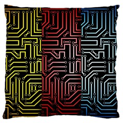 Circuit Board Seamless Patterns Set Large Flano Cushion Case (Two Sides)