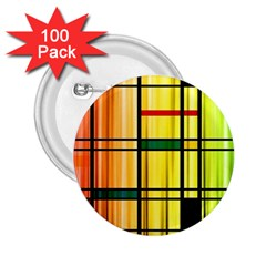 Line Rainbow Grid Abstract 2.25  Buttons (100 pack)