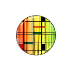 Line Rainbow Grid Abstract Hat Clip Ball Marker (4 pack)