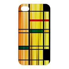Line Rainbow Grid Abstract Apple iPhone 4/4S Hardshell Case