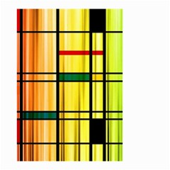 Line Rainbow Grid Abstract Small Garden Flag (Two Sides)