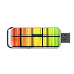 Line Rainbow Grid Abstract Portable USB Flash (One Side)