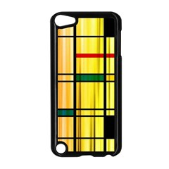 Line Rainbow Grid Abstract Apple iPod Touch 5 Case (Black)