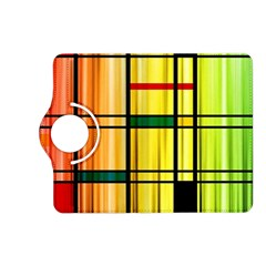 Line Rainbow Grid Abstract Kindle Fire HD (2013) Flip 360 Case