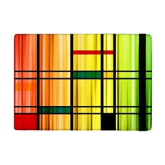 Line Rainbow Grid Abstract iPad Mini 2 Flip Cases