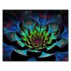 Fractal Flowers Abstract Petals Glitter Lights Art 3d Rectangular Jigsaw Puzzl