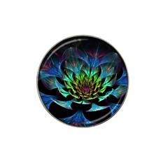 Fractal Flowers Abstract Petals Glitter Lights Art 3d Hat Clip Ball Marker