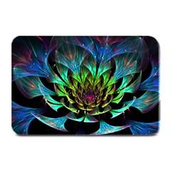 Fractal Flowers Abstract Petals Glitter Lights Art 3d Plate Mats