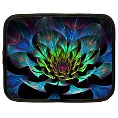 Fractal Flowers Abstract Petals Glitter Lights Art 3d Netbook Case (XXL)