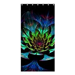Fractal Flowers Abstract Petals Glitter Lights Art 3d Shower Curtain 36  x 72  (Stall)