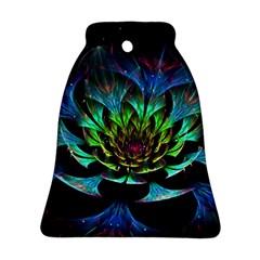 Fractal Flowers Abstract Petals Glitter Lights Art 3d Ornament (Bell)