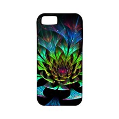 Fractal Flowers Abstract Petals Glitter Lights Art 3d Apple iPhone 5 Classic Hardshell Case (PC+Silicone)