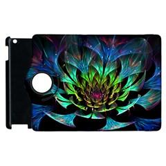 Fractal Flowers Abstract Petals Glitter Lights Art 3d Apple iPad 3/4 Flip 360 Case