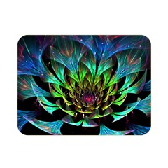 Fractal Flowers Abstract Petals Glitter Lights Art 3d Double Sided Flano Blanket (Mini)
