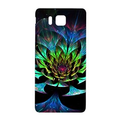 Fractal Flowers Abstract Petals Glitter Lights Art 3d Samsung Galaxy Alpha Hardshell Back Case
