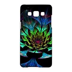 Fractal Flowers Abstract Petals Glitter Lights Art 3d Samsung Galaxy A5 Hardshell Case