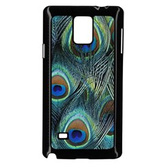 Feathers Art Peacock Sheets Patterns Samsung Galaxy Note 4 Case (Black)