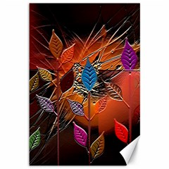 Colorful Leaves Canvas 12  x 18
