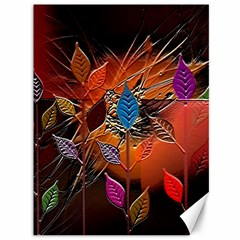 Colorful Leaves Canvas 36  x 48