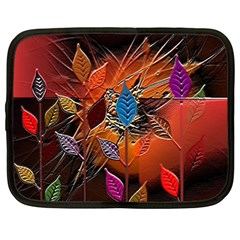 Colorful Leaves Netbook Case (Large)
