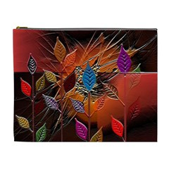 Colorful Leaves Cosmetic Bag (XL)
