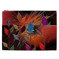 Colorful Leaves Cosmetic Bag (XXL)